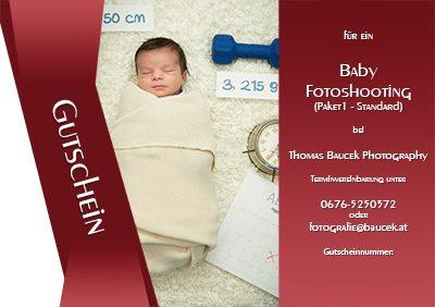 Babyfotoshooting Gutschein von Thomas Baucek Photography